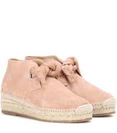 Espadrilles en daim rose Rag & Bone style boots à lacets