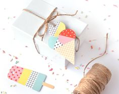 Ice Cream Paper Gift Tags 6pk
