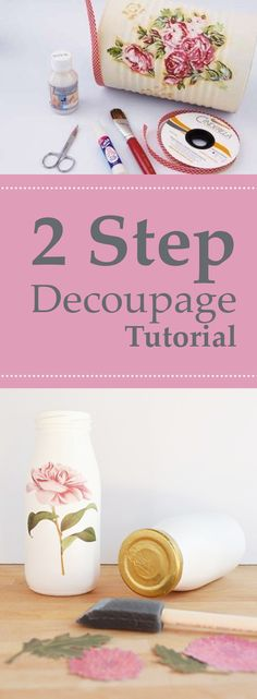Flaschen 2 Step Decoupage Tutorial Treasuring Time With Your Kids When school is out, kids look to r Napkin Decoupage, Decoupage Tutorial, Decoupage Art, Decoupage Ideas, Cute Crafts, Diy And Crafts, Paper Crafts, Craft Tutorials, Craft Projects