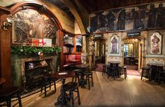 The interior of the stunning Nicholsons's-owned Blackfriar pub in the City of London. Built around 1875, the Grade-II Listed pub was remodeled in 1905.