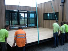 green prefabricated home