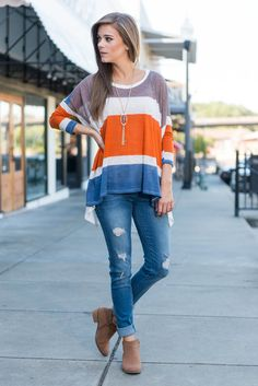 """""""Must Have You Top, Cream"""" Casual style, cute design and a generous cut come together to make this top a must have! The color blocking is to trendy right now!  #newarrivals #shopthemint"""