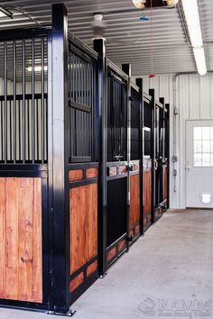 If you're looking for designer horse stalls that are built to not only last but to look good too, then look no further. The Nobleman series is RAMM's most prestigious horse stall series. This system comes has every bell and whistle, with kits including the newly innovated Premium track sliding stall door system, a one-piece welded stall front frame, your door and/or arch of choice, posts, and all the hardware needed to install it! 📞800-826-1287 #noblemanstalls #rammstalls #designer #horsestalls