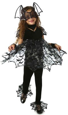 Deluxe Bat Kids Costume Includes themed top, pants, hand warmers, choker and mask. Weight (lbs) 1 Length (inches) 18 Width (inches) 14.5 Height(inches) 2