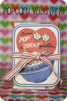 Popcorn valentine