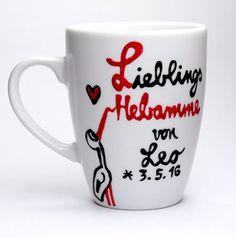 Geldgeschenke - Geschenk für Hebamme Danke Tasse für Deine Hebamme - ein Designerstück von Lovely-Cups bei DaWanda