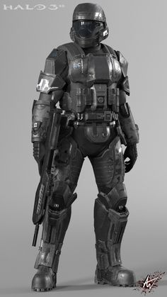 A pet project of mine wich I could finally finish thanks to Nova who comissioned a lower poly version of the model. Halo Spartan Armor, Halo Armor, Combat Suit, Combat Armor, Military Armor, Suit Of Armor, Body Armor, Halo 3 Odst, Halo Cosplay