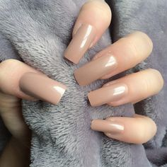 Doobys Long Nails - NEW! Mocha Gloss / Gel Look - 20 False Nails caramel nails camel nails mocha nails