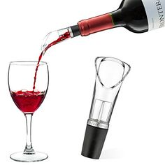 VinOrama Red Wine Aerator  Drop Stop Air Spout Pourer  Bar Wine Accessory  With Carry Pouch * Want additional info? Click on the image.