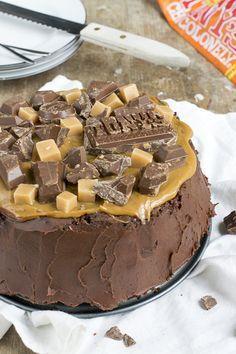 Chocoladetaart met Salted Caramel | Tony's | Taart | via brendakookt.nl