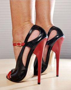 black and red stilettos