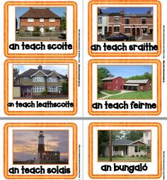 Balla Focail: Sa Bhaile: Na Tithe – Mash. Different Types Of Houses, Poetry Anthology, Irish Language, Job Chart, Classroom Rules, Grammar, College, Teaching, How To Plan