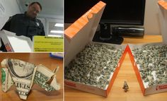 LOL, Driver turns up to police station to pay traffic ticket with 137 origami dollar bill PIGS . . . and cops make him unfold every one