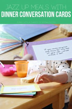 DIY Dinner Conversation Cards + The Importance of Family Meals #SharetheTable #ad