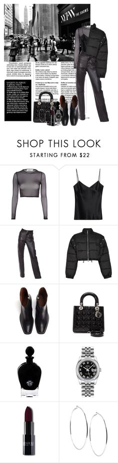 """""""Autumn outfit #27"""" by mayfl0wer21 ❤ liked on Polyvore featuring Oh My Love, Galvan, Helmut Lang, 3.1 Phillip Lim, Vetements, Christian Dior, EB Florals, Rolex, GUESS and Fall"""