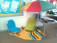 Seaside topic - reading corner/roleplay area