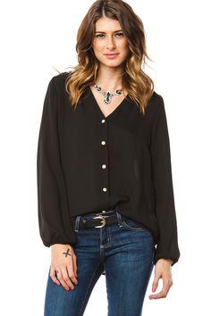ShopSosie Style : Payne Blouse in Black