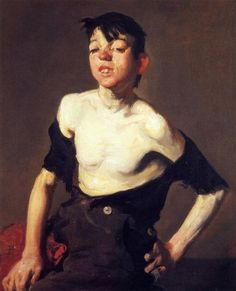 "George Bellows - Paddy Flannigan, 1905. George Wesley Bellows was an American realist painter, known for his bold depictions of urban life in New York City, becoming, according to the Columbus Museum of Art, ""the most acclaimed American artist of his generation"""