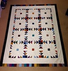 Scrappy Bear's Paw Pattern Quilt Top
