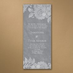 20%off!!!!! Lovely Antique Lace - Wedding & Event Invitation | Just The Details