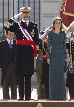 King Felipe and Queen Létizia attended the Pascua Militar for the new year 2015