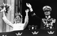 King Gustaf of Sweden and Queen Silvia of Sweden celebrate their 40th wedding anniversary. They met during Munich summer olympics of 1972 and got married with a ceremony held at Stockholm Cathedral on June 19, 1976. King Carl Gustaf and Queen Silvia have three children and five grandchildren. Today is also the 6th wedding anniversary of Crown Princess Victoria and Prince Daniel. Crown Princess Victoria and Prince Daniel got married with a ceremony held at Stockholm Cathedral on June 19…