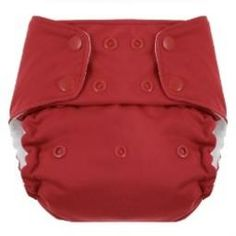Blueberry One Size Bamboo Pocket Diaper - 10-35lbs - Made in Arkansas - Color: Red