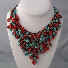 Coral and Turquoise jewelry.