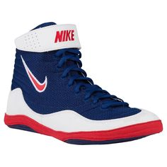 Nike Inflict 3 Wrestling Shoes (Royal   White   Uni Red) Wrestling Shoes For 889a51ba2