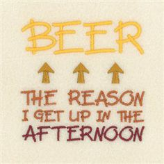 Beer the Reason embroidery design