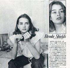 young Brooke Shields, also Pam on That Show Pretty Baby 1978, Beautiful Models, Beautiful Women, Beautiful Things, Brooke Shields Young, Ocean Hair, Beloved Film, Thick Eyebrows, That 70s Show