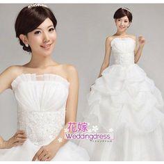 ウェディングドレス 結婚式 披露宴 二次会 パーティードレス ウエディングドレス 韓国風 宮廷豪華ドレス  H12082