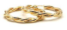 Fancy ladies twisted hoops style, crafted in gold Gold Hoops, Gold Earrings, Fancy, Bracelets, Jewelry, Style, Gold Stud Earrings, Bangles, Jewellery Making