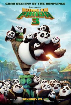 Kung Fu Panda 3 [Good]  I like the eastern wisdom built into the film. It sets the tone and underpins the story with real-world beliefs and builds on them with a funny and fantastic story. Nice to see a cross-over to the spirit realm in this one, even if some elements felt familiar or revisited. Animation outstanding. Not quite as good overall as the first but nice to go back to Po's world for a spell.