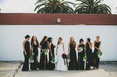 -- Blackout Your Bridesmaids-- via 100 Layer Cake | 2015 Wedding Trend Alert: Dare to Go Dark