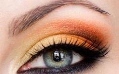 Sunny Orange Makeup