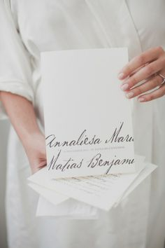 Black and White Calligraphy Wedding Invitations. These are perfect. So simple and classy :)