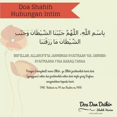 Doa Shahih Hubungan Intim