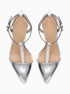 T Bar High Heel Sandals