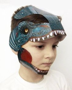 T-REX3D Durable Laminated paper mask Designer Kids or by Oxfordoll