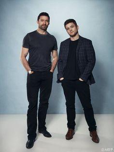 Hugh and Taron Egerton