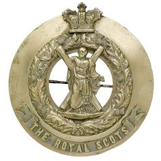 The Royal Scots (Lothian Regiment), NCO's plaid brooch, post 1881 Paranormal Experience, Army Hat, British Army, Cold Steel, Swords, Family History, Badges, 19th Century, Plaid