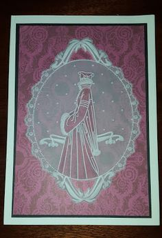 Linda's Hand Made Cards: groovi samples - art nouveau border plates Hobbies And Crafts, Crafts To Make, All Things Christmas, Christmas Cards, Chloes Creative Cards, Parchment Cards, Fall Cards, Card Tags, Greeting Cards Handmade