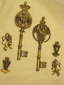 Ornate Skeleton Key   Unique-vintage-skeleton-keys-key-ornate-wall-decor-knight-mythical ...