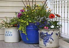 Country Porch Featured Images - Porch flowers by Steve and Sharon Smith