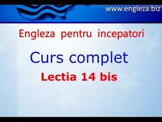 Curs de Limba Engleza Incepatori Complet Lectia 14 bis - YouTube English Lessons, Learn English, Thing 1, English Vocabulary, Teaching English, Youtube, Audio, Education, Learning