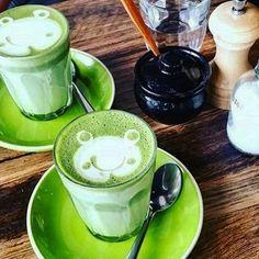 So cute Zen Green Tea matcha lattes www.zengreentea.com #matcha #superfood