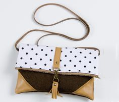 Leather and Polka Bag