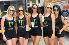 NASCAR Canadian Tire Jiffy Lube 100 2013 pictures: Monster energy drink girls