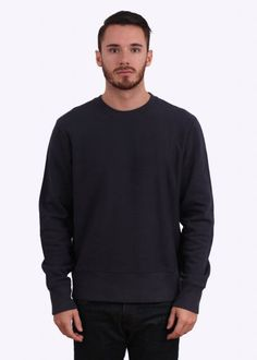 a5388529099 Paul Smith Red Ear Detail Crew Sweater - Navy Blue Stone Island